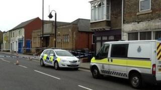 Police cordon at Nick Boles' office