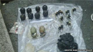 Grenades belonging to Dale Cregan recovered from a house in Oldham