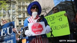 Protests against the sequester