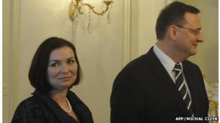 Czech Prime Minister Petr Necas and his wife Radka Necasova (file photo from 2011)