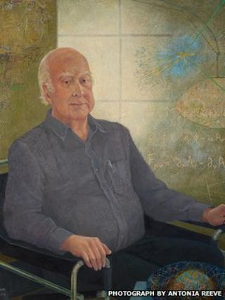 Portrait of Prof Peter Higgs by Victoria Crowe