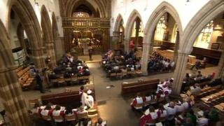 The service at Leicester Cathedral