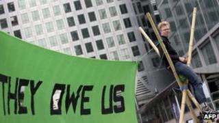 Anti-G8 demonstrator in London
