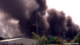 The fire scene on Thursday