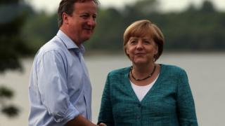 David Cameron and Angela Merkel