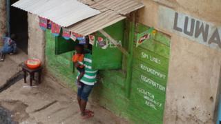 An Mpesa stall in Nairobi