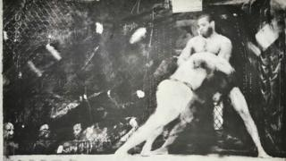 One of the cage fighting photographs