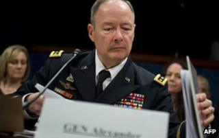 National Security Agency director Gen Keith Alexander on Capitol Hill in Washington on 18 June 2013
