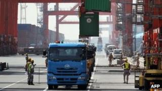 Cargo terminal in Tokyo
