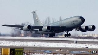 File photo of US air base at Manas, 2006