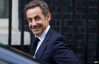Former French President Nicolas Sarkozy on a visit to London, 3 June 2013