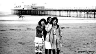 Refugees from Vietnam on Weston-super-Mare beach in 1989