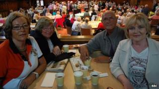Bridgin Sharkey, Urusla Clifford, Brian McDermott and Rosemary Deeney