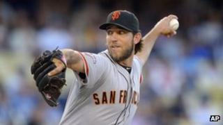 San Francisco Giants starting pitcher Madison Bumgarner