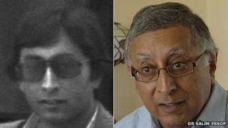 Dr Salim Essop in the early 1980s and in June 2013