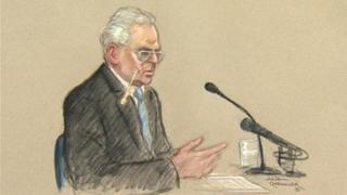 Ian Brady at his tribunal