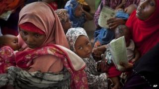 Somali mothers and children