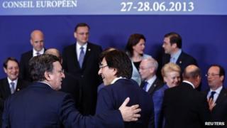 EU leaders in Brussels, 27 Jun 13