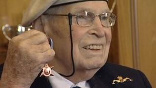 Eddie Grenfell with the first Arctic Star medal in March