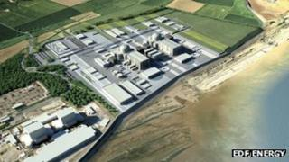 EDF plan for Hinkley Point C, 2009