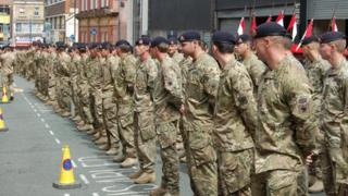 Queens Royal Lancers parade
