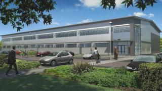 Artists impression of the new building
