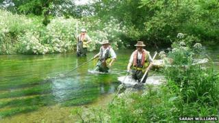 Surveying the River Frome