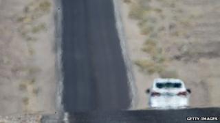 Car on US highway