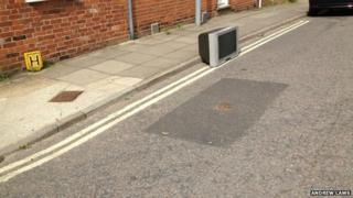 Television set in the road