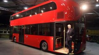 Boris Johnson and a Boris Bus