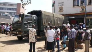 A police lorry in Nairobi, Kenya, on 8 July 2013
