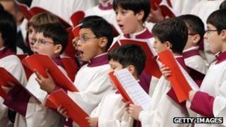 Choir at St Peter's Basilica