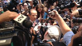 Eliot Spitzer and reporters