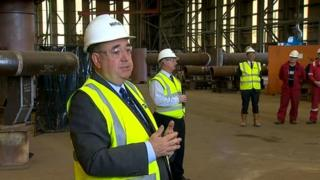Alex Salmond at Nigg Energy Park