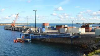 Alderney Commercial Quay in Braye Harbour