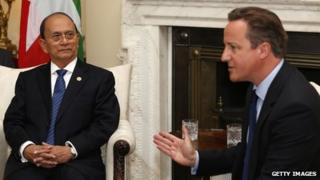 Thein Sein and David Cameron (15 July 2013)