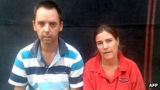Dutch hostages Judith Spiegel and Boudewijn Berendsen make plea