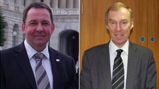 Mike Brown and Nigel Lewis