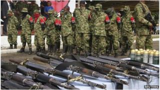 ELN members lay down arms