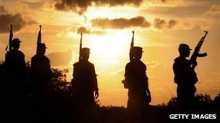 Sri Lankan Army patrol