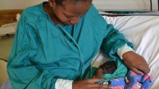 Phumla Tshabalala with her newborn baby