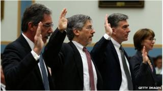 US officials are under oath at a congressional hearing in Washington DC 17 July 2013