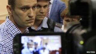 Alexei Navalny in front of camera