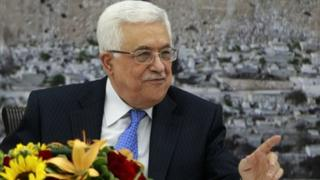 Palestinian President Mahmoud Abbas attends a meeting of the Palestinian leadership in the West Bank city of Ramallah on 18 July 2013