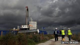 A Cuadrilla fracking site near Preston