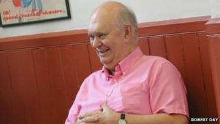 Sir Alan Ayckbourn in rehearsals