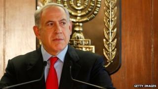 Israeli PM Benjamin Netanyahu speaking to the media in parliament on 22 July 2013