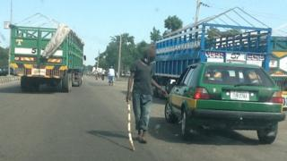 Vigilante checkpoint in Maiduguri