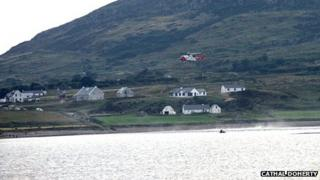 Four lifeboats and a helicopter took part in the search on Monday