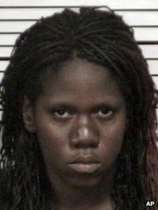 This 2012 booking photo provided by the Cuyahoga County Sheriff's Department shows Shetisha Sheeley of Cleveland